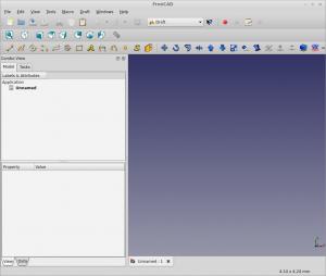FreeCAD 0.14 ikkuna