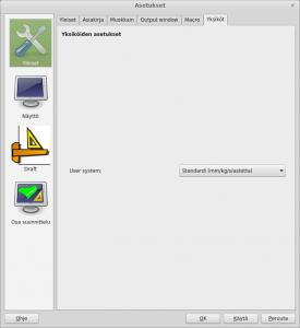 FreeCAD ohjelman yksiköt
